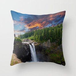 Snoqualmie Falls Early Morning Throw Pillow