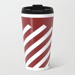 Candy Cane Metal Travel Mug
