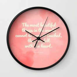 The most beautiful things... The Little Prince quote Wall Clock
