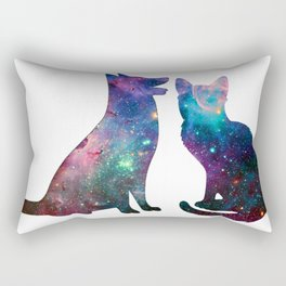 Galaxy Pet Love Rectangular Pillow