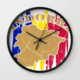 Andorra la Vella principality gift Catalan Wall Clock