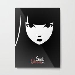 Emily the Strange: Emily's face Metal Print