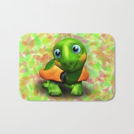 Green Turtle Baby 3D Bath Mat