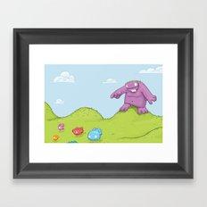 Marshmallow Hunting Framed Art Print