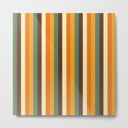70s stripes Metal Print