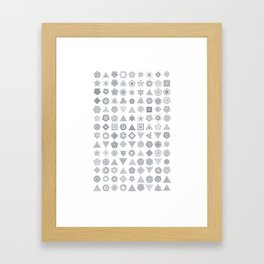 TypeFlakes A Framed Art Print