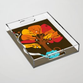 Tea Leaves Acrylic Tray