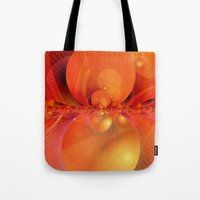 outer space Tote Bags featuring Outer Space by Christine baessler