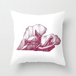 Heart Under Construction Throw Pillow