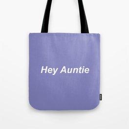auntie: purple Tote Bag