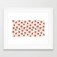 polkadot Framed Art Prints featuring Polkadot Poppy by Poptart Merch!