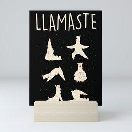 Funny yogi print Lama Peace makes yoga hippie Mini Art Print