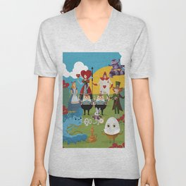 alice in wonderland collection Unisex V-Neck