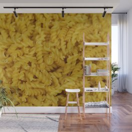 Yellow Fuselli Noodles background - illustration Wall Mural