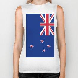 The Flag of New Zealand Biker Tank