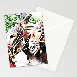 Muzzle of two donkeys Stationery Cards