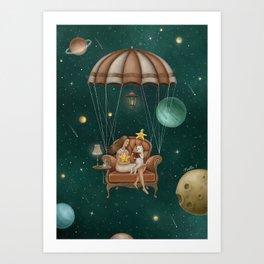Story Time Art Print