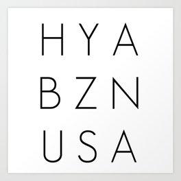 HYA BZN USA Art Print