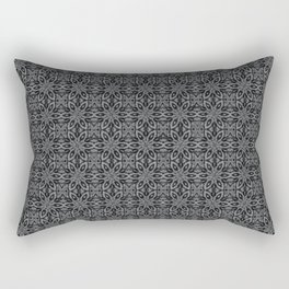 Sharkskin Floral Rectangular Pillow