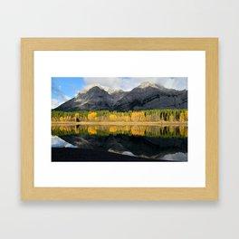 Morning Light at Mt. Kidd Framed Art Print