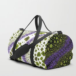 Paths of Color [green & purple] Duffle Bag