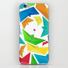Origami boats multicolour seamless pattern iPhone Skin