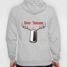 Beer season deer season parody tags for bags Hoody