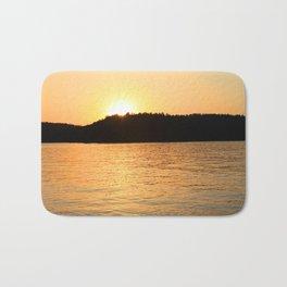 Sun Sets On The Lake Bath Mat