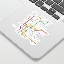 New York City subway map Sticker