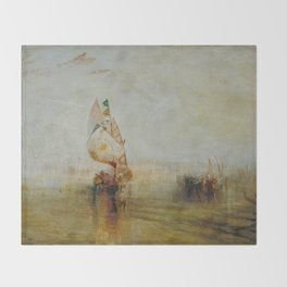 Joseph Mallord William Turner - The Sun of Venice Going to Sea Throw Blanket