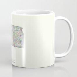 Kansas map Coffee Mug