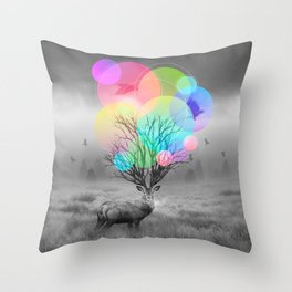 Calm Within the Chaos Throw Pillow