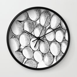 Two Dozen Eggs To Be Eggs Act Wall Clock