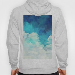 Absract Watercolor Clouds Hoody