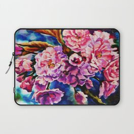 Bloom Floral Sun Fuchsia Pink Art Laptop Sleeve