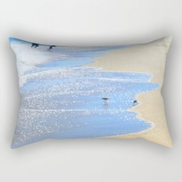 seascape 005: father, son, & 2 sandpipers Rectangular Pillow