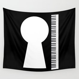 Piano Keyhole Musical Copy Space Wall Tapestry