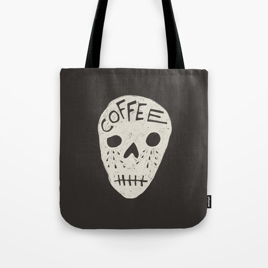 COFFEE DEATH Tote Bag
