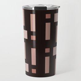 Pattern of Squares in Brown Travel Mug