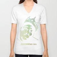 biggie smalls V-neck T-shirts featuring Biggie Smalls by Taylor Burleson