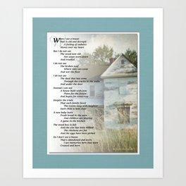 Old Homes (Poem) Art Print