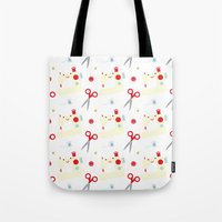 sewing Tote Bags featuring Sewing fun by Samantha Eynon