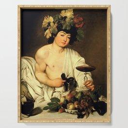 """Michelangelo Merisi da Caravaggio """"Bacchus"""" Serving Tray"""