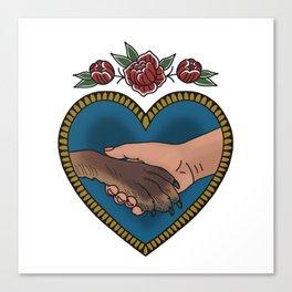 Animal liberation tattoo Canvas Print