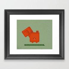 Squarrel Framed Art Print
