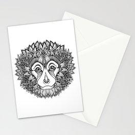 MONKEY head. psychedelic / zentangle style Stationery Cards