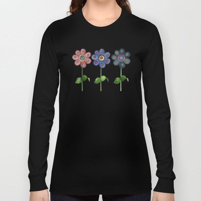 Flower Row Long Sleeve T-shirt