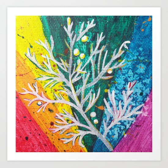 Leaves on the World Tree: Balochis Juniper Art Print