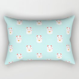 Lucky happy Japanese cat pattern Rectangular Pillow