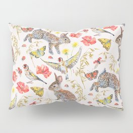 Bunny Meadow Pattern Pillow Sham